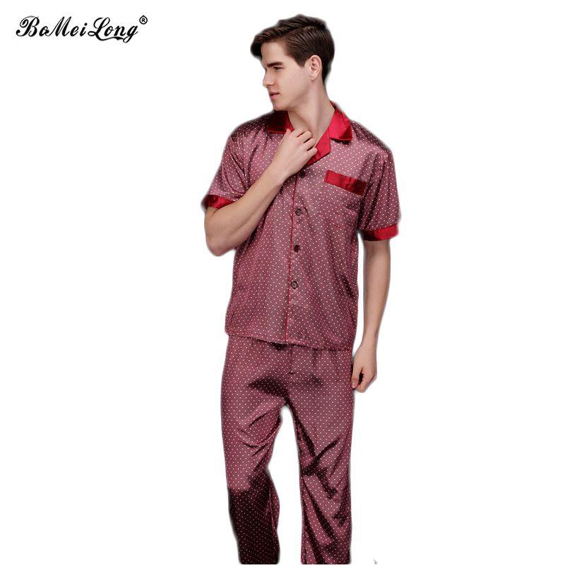 Click to Buy    Mens Red Shirts Pyjamas Men Male Sleepwear Mens Sexy ... b124bf8b7