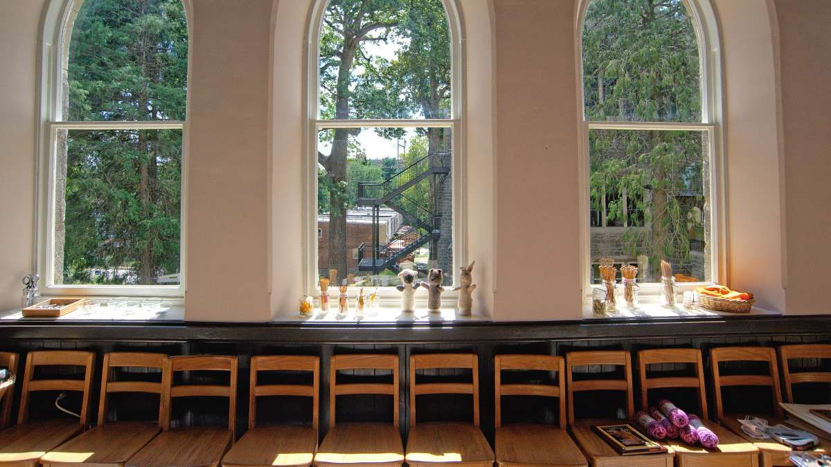 Large Windows provide natural daylight to pour into the handwork ...