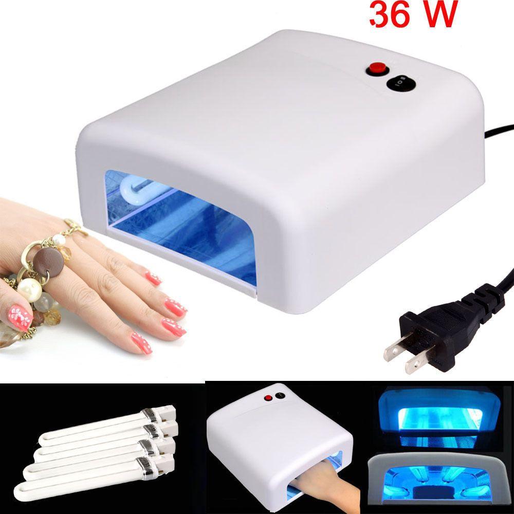 Pro Nail Polish Dryer Lamp 36W LED UV Gel Acrylic Curing Light Spa ...