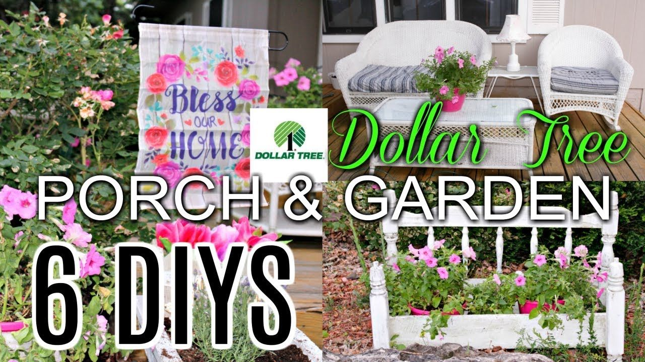 6 Diy Dollar Tree Trash To Treasure Porch Garden Decor Crafts
