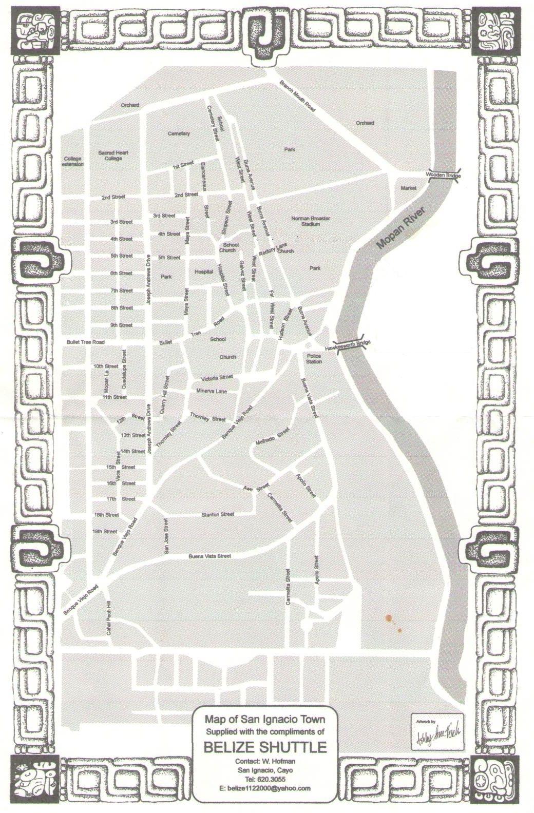 map san ignacio belize San Ignacio Belize Click To View The Full Sized Map Of San map san ignacio belize