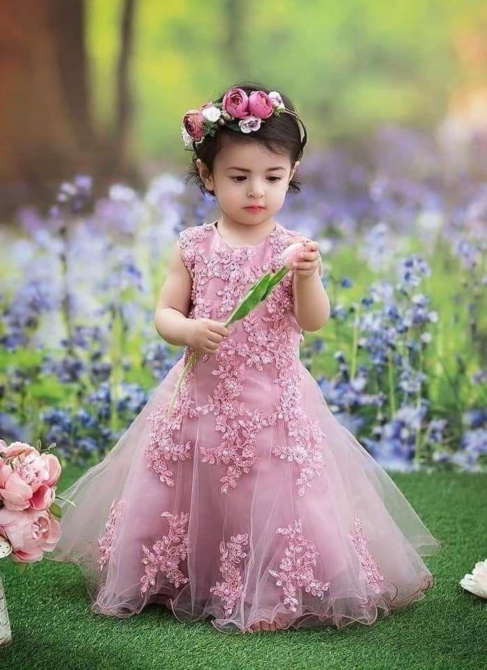 Kids designer frock   1000   Baby gowns girl, Fall flower ...