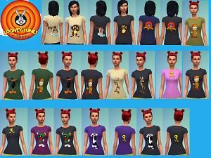Mod The Sims - 56 Looney Tunes T-shirts for Males and Females