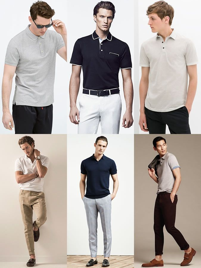 The Ultimate Summer Capsule Wardrobe. Men s Cotton Polo Shirt Spring Summer  Outfit Inspiration Lookbook 95e2d1668