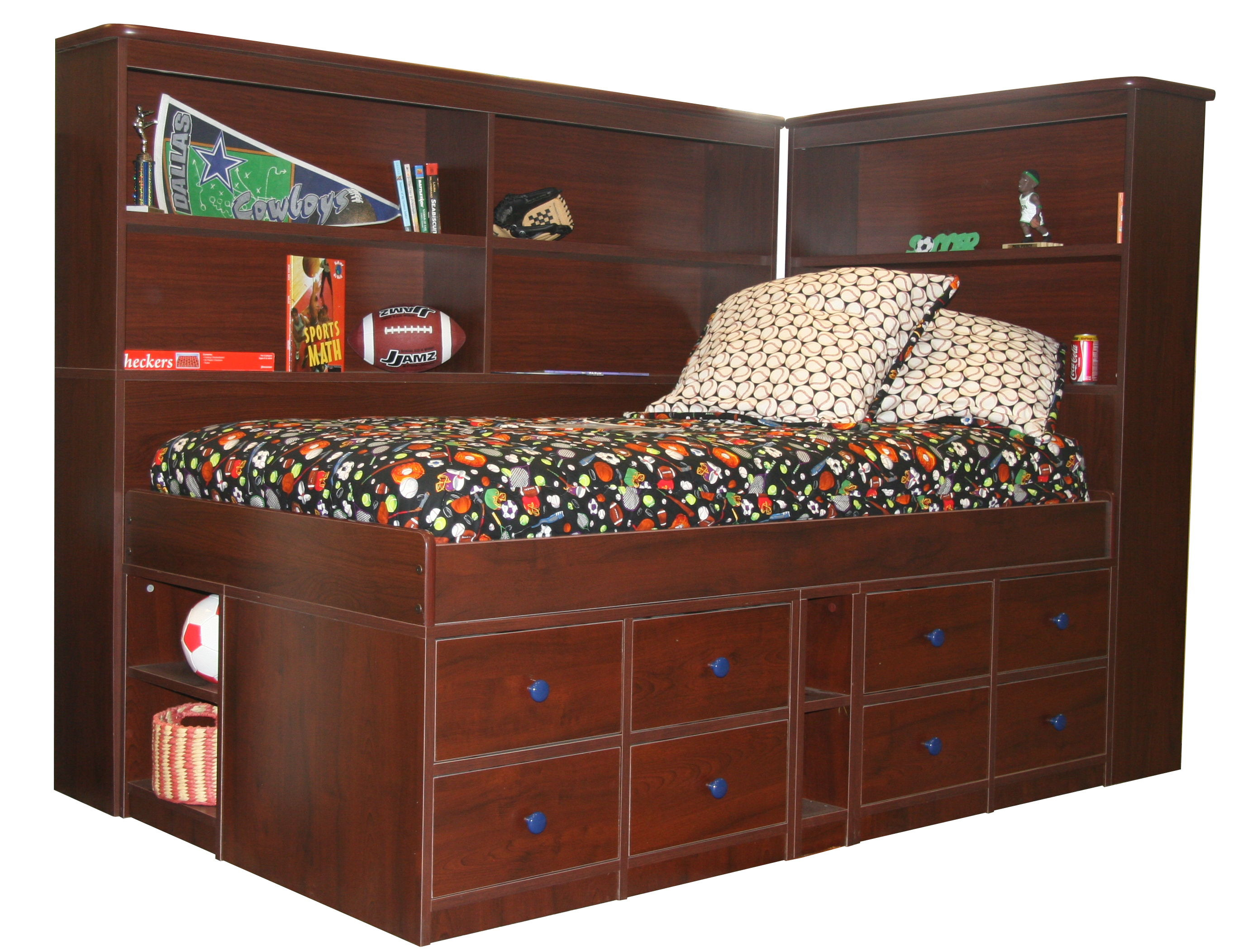 Twin Bookcase Headboard For Jr Captain S Bed 22 94 Berg