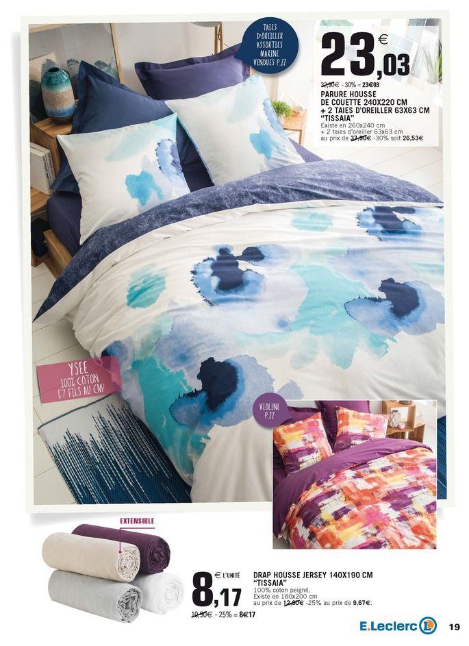 Housse De Couette Tissaia Leclerc Janv 2017 Deco Comforters