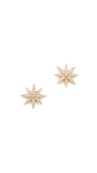Elizabeth and James Compass Rose Stud Earrings