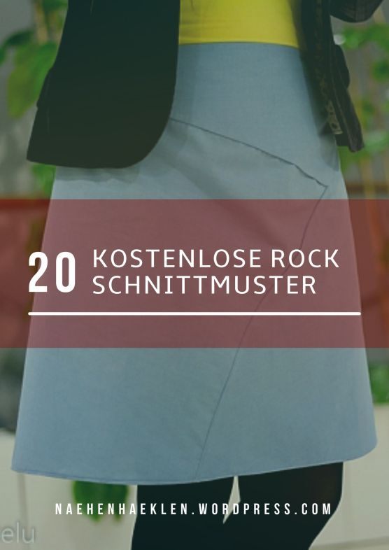 20 kostenlose Rock-Schnittmuster, alle auch Plus Size