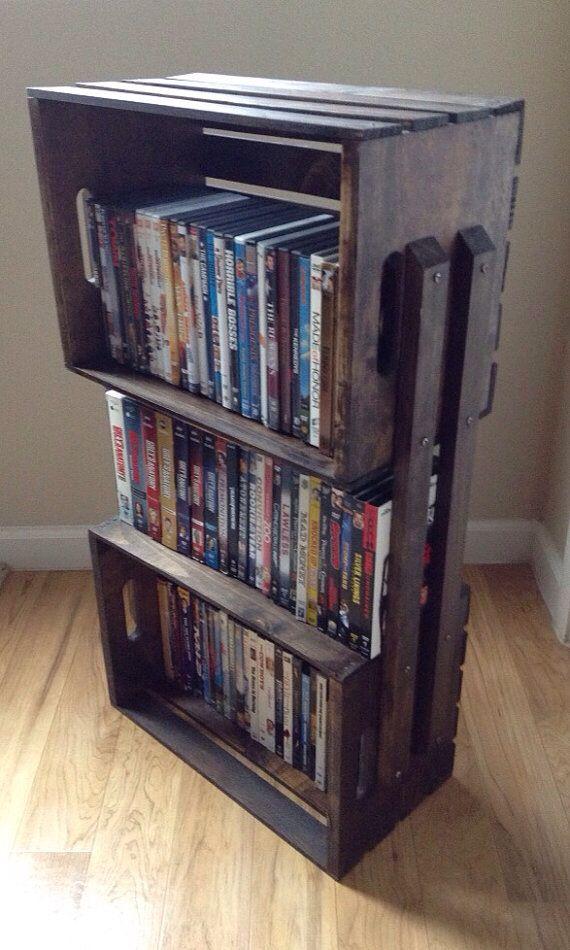 Crate Dvd Rack Wooden Crate Shelves Crate Bookshelf Crate Shelves