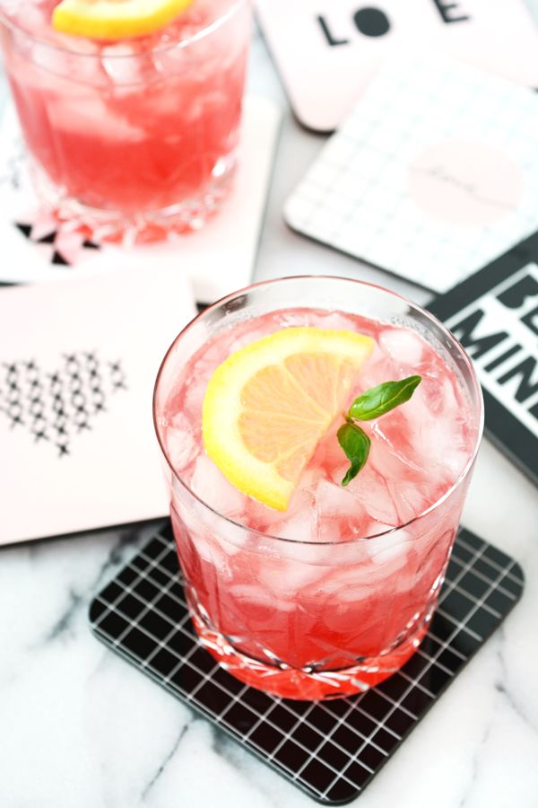 Pomegranate Basil Lemonade #basillemonade