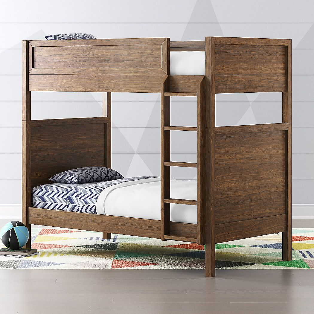 Taylor Twin Walnut Convertible Bunk Bed Crate And Barrel Cool