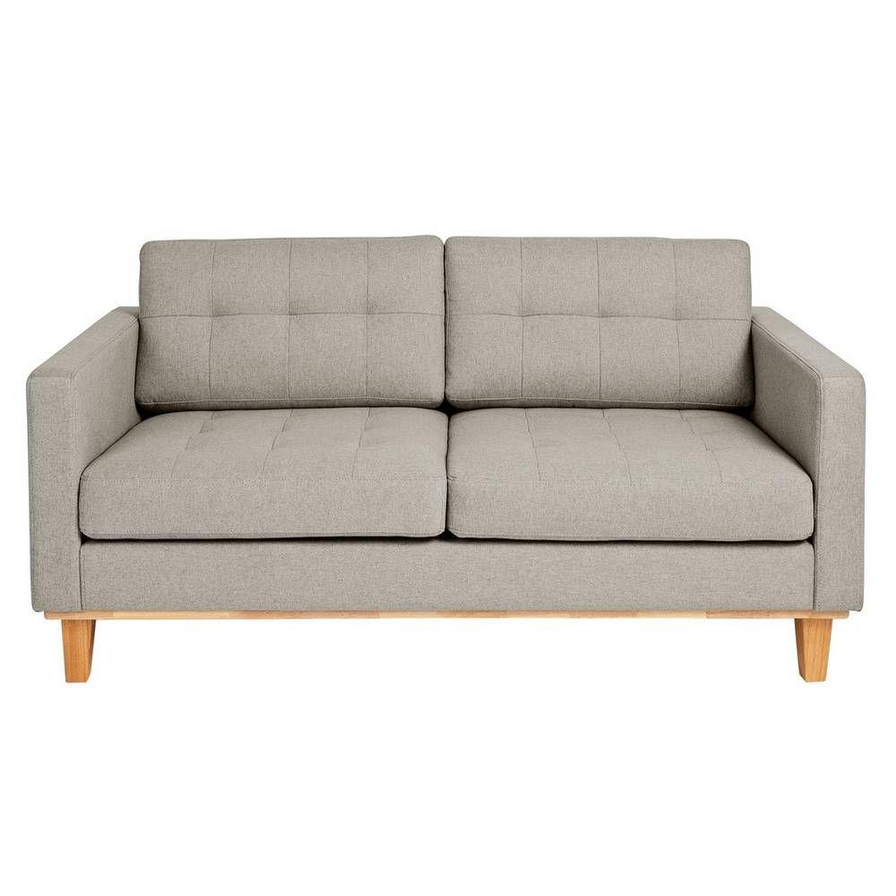 Buy Argos Home Aliso 2 Seater Fabric Sofa Light Grey Sofas Argos In 2020 Light Gray Sofas Argos Home Grey Fabric Sofa