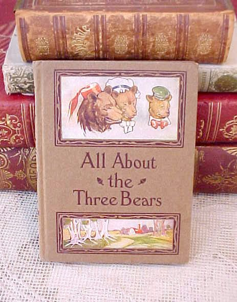 Adorable 1914 BookAll About the Three Bears by TheJewelMystique, $48.00