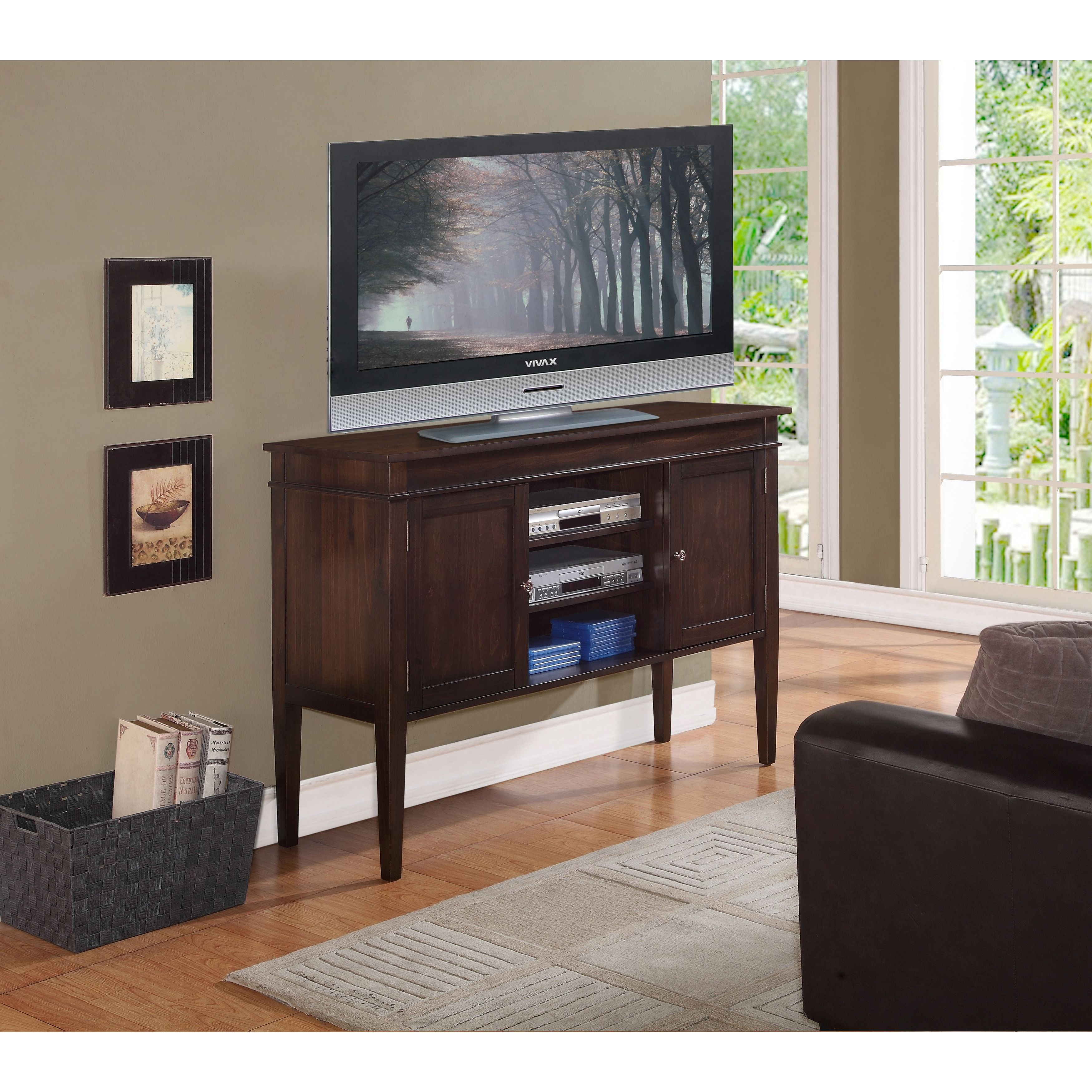 The Richland Collection 54 Inch Wide Tv Media Stand Is An Elegant