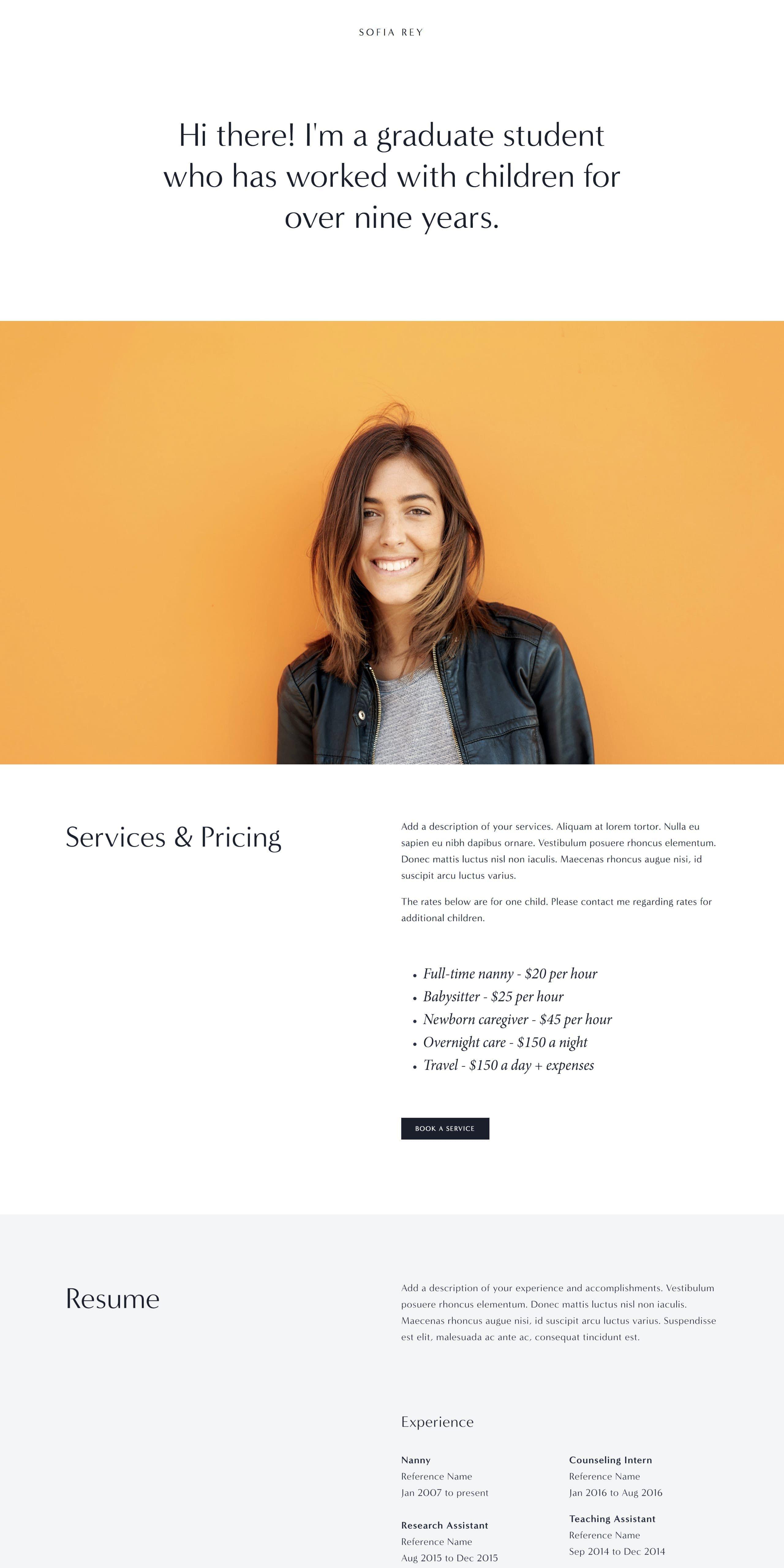 With The New Year Comes New Motivation To Finally Launch That Idea You Ve Had On The Back Bu Portfolio Web Design Portfolio Website Design Wordpress Web Design