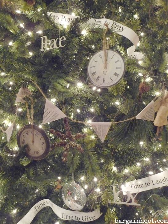 Clock Face Ornament And Other Tree Decor Recycled Christmas Tree Christmas Tree Decorations Tree Decorations