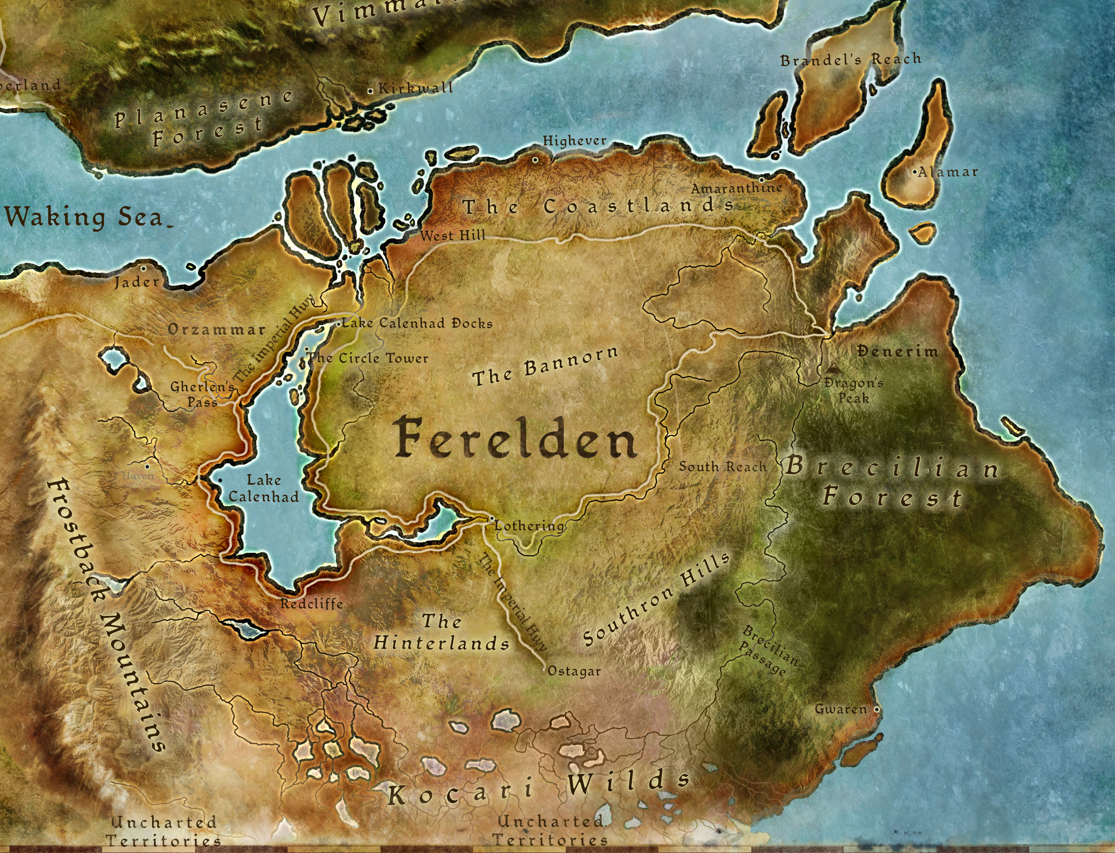 Ferelden | Here There Be Dragons | Dragon age, Dragon age ... on