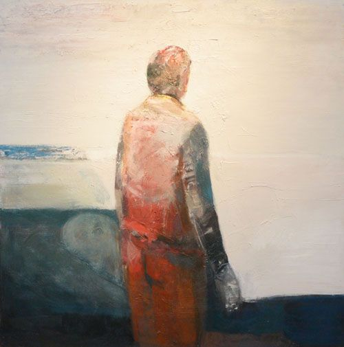 Waldemar  Mitrowski - Waldemar Mitrowski Meditation and abstract figurative oil painting at Seager Gray Gallery in Mill Valley Ca in the San Francisco Bay Area.