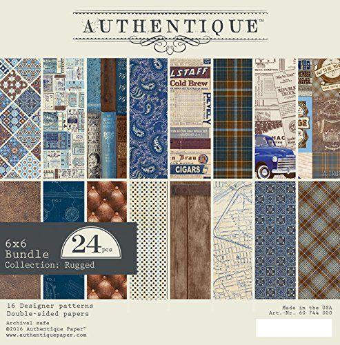 Authentique Paper Rug011 Rugged 6x6 Bundle Rugged 6x6 Paper Pad