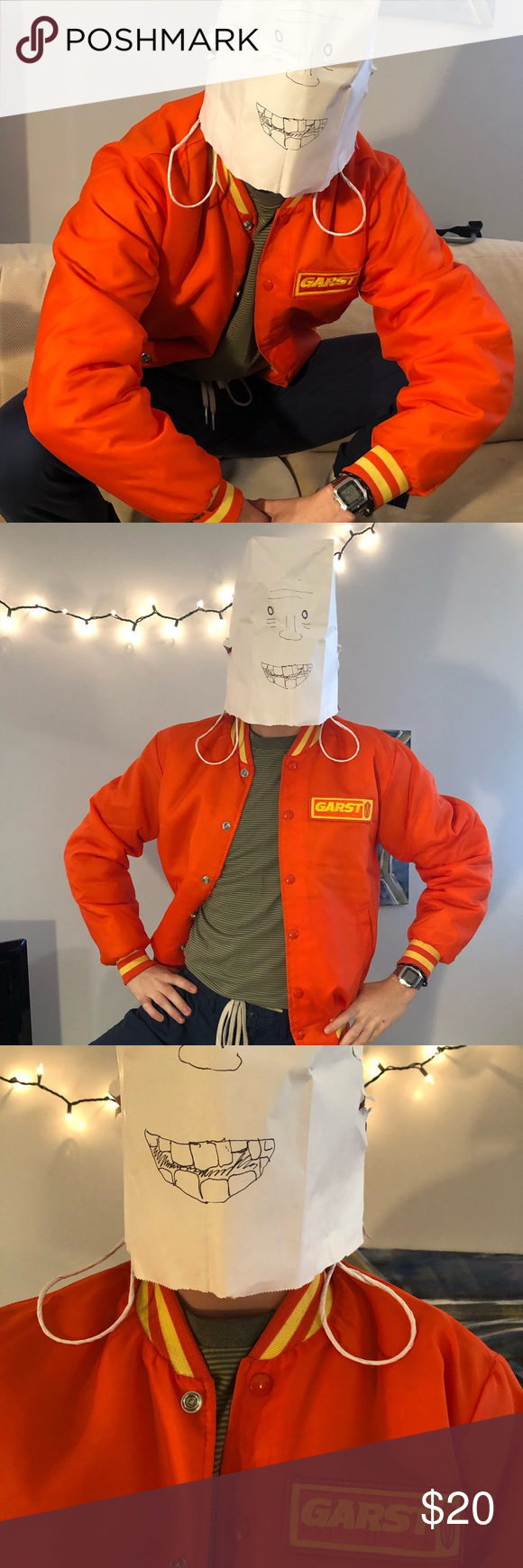 Vintage bomber / varsity jacket A bomber jacket from an old corn company. Make everyone crazy with your blazin' maize blaze-r. Swingster Jackets & Coats Bomber & Varsity #varsityjacketoutfit