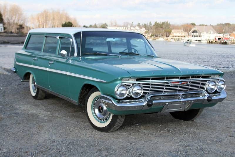 1961 Chevrolet Belair Parkwood Station Wagon For Sale Or Trade Motorland Motorlandamerica Com Chevy Station Wagon Chevrolet Bel Air Station Wagon Cars