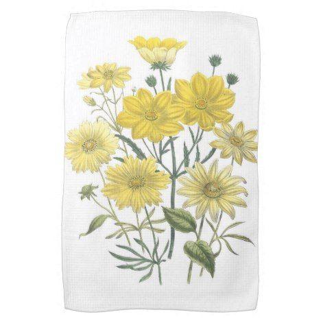 Yellow Daisies Wildflowers Towels Kitchenaccessory Kitchen Kitchenaccessories Trendy