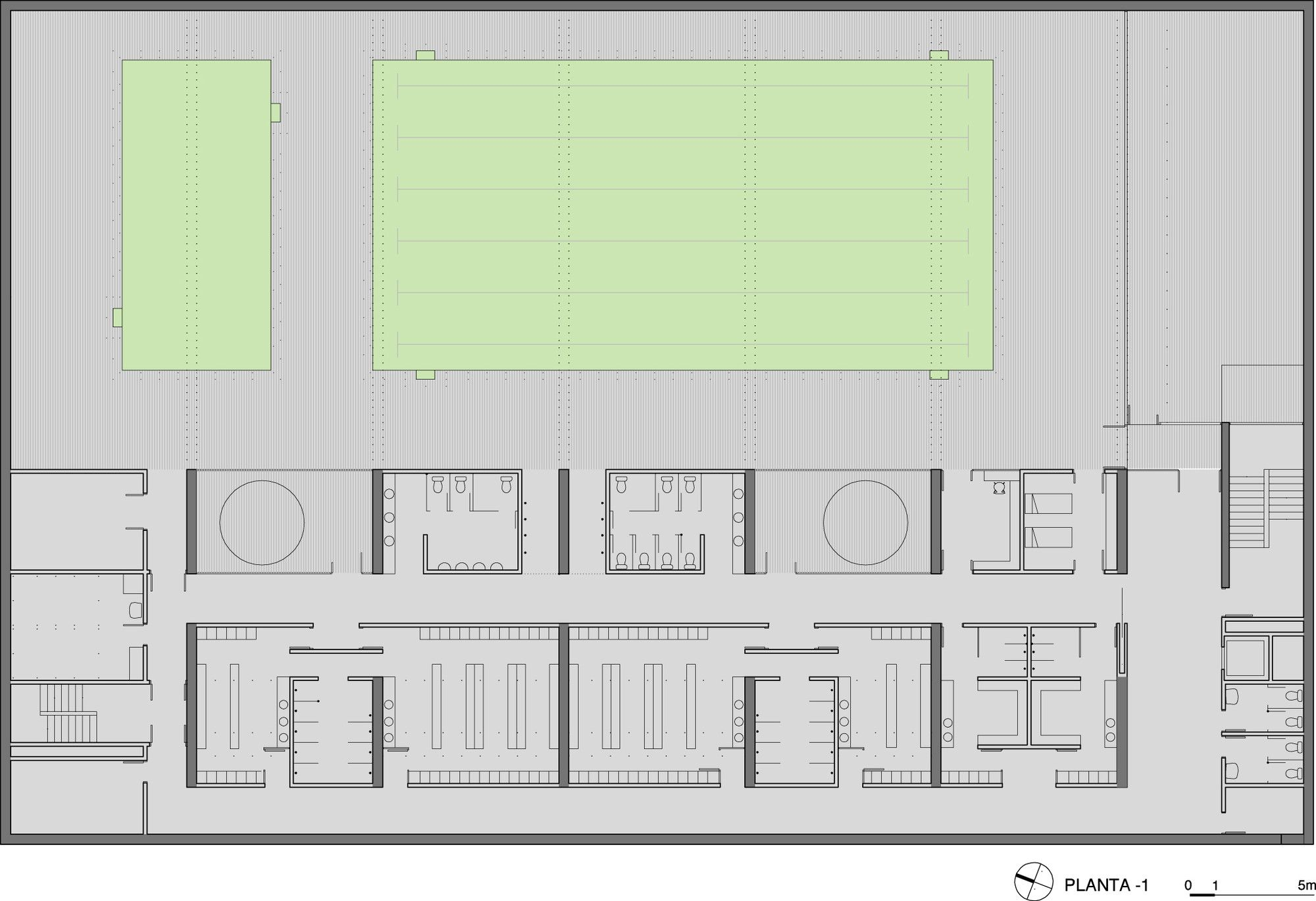 Gallery of sports center and indoor pool alday jover arquitectura y paisaje 22 drawing - Business plan piscina ...