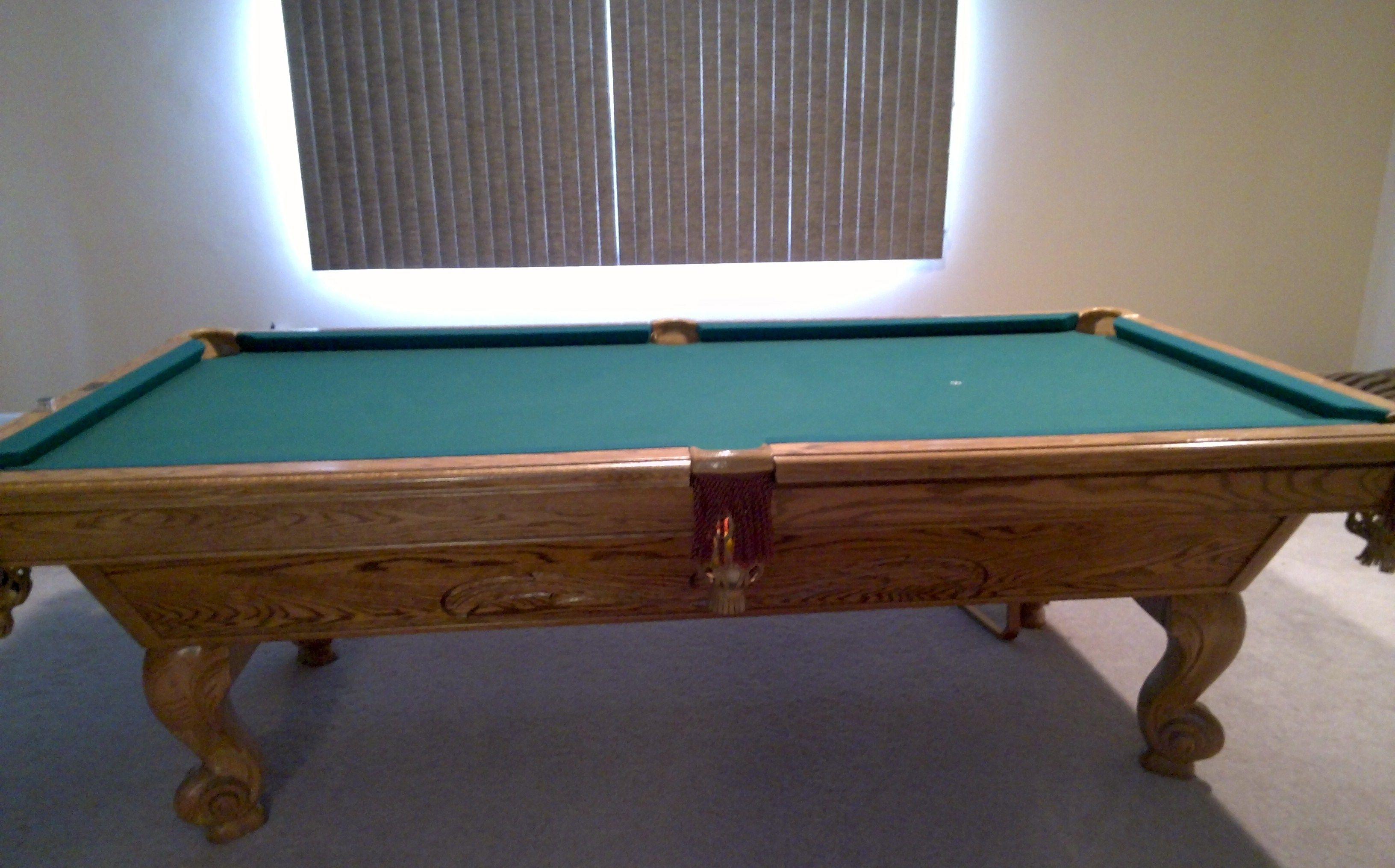 Brunswick Billiards Manchester 8u0027 Solid Wood Pool Table