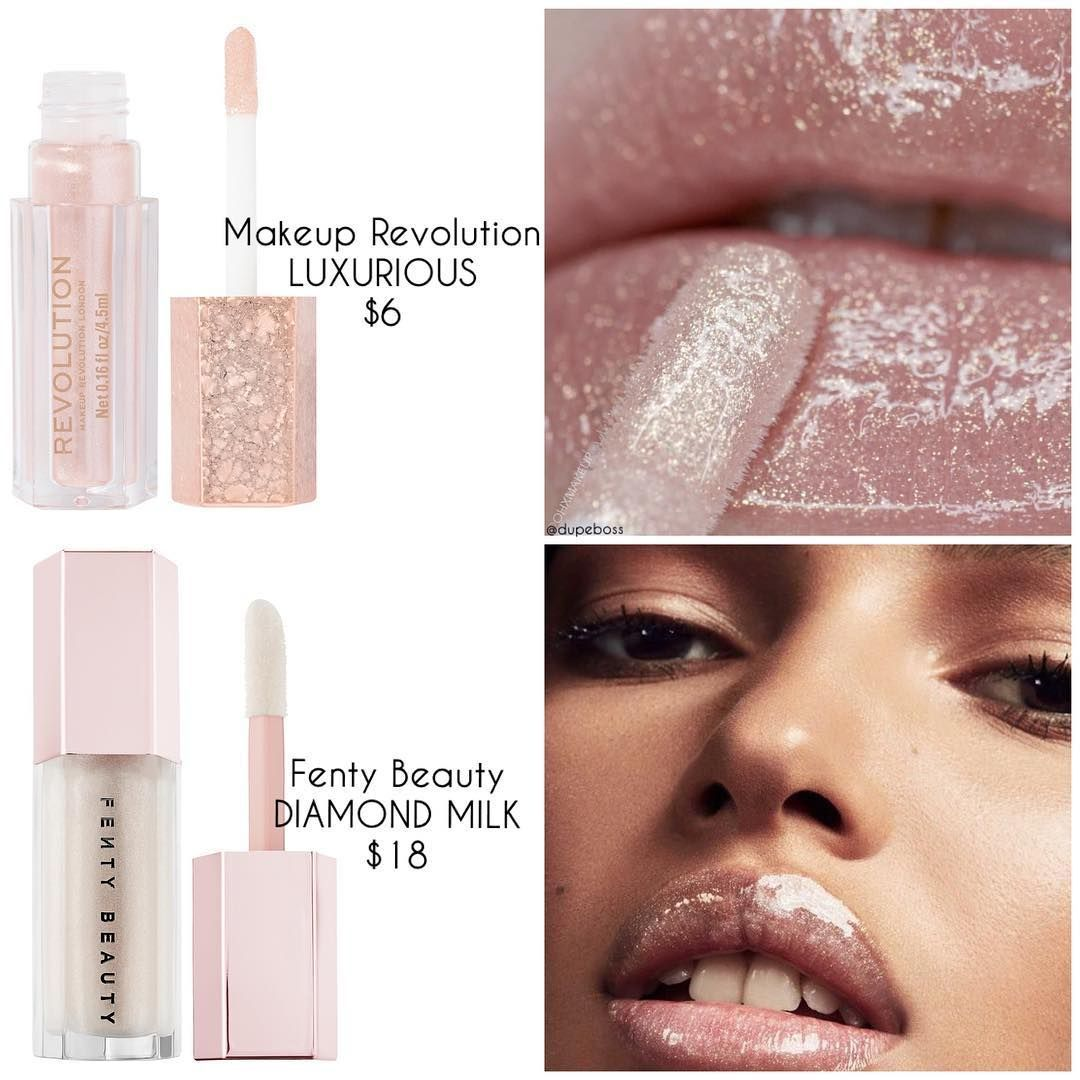 Makeup Revolution is selling a 2 dupe of Fenty Beautys soldout 16 diamond lip gloss