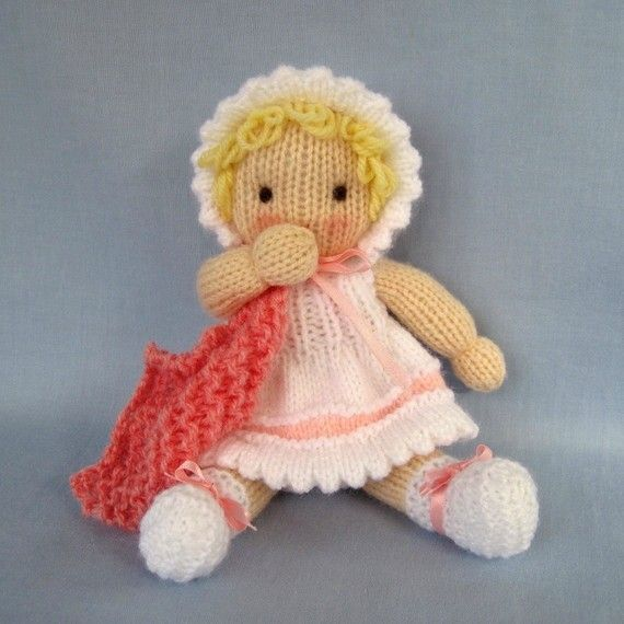 Little Daisy Doll Knitting Pattern Instant Download Knit