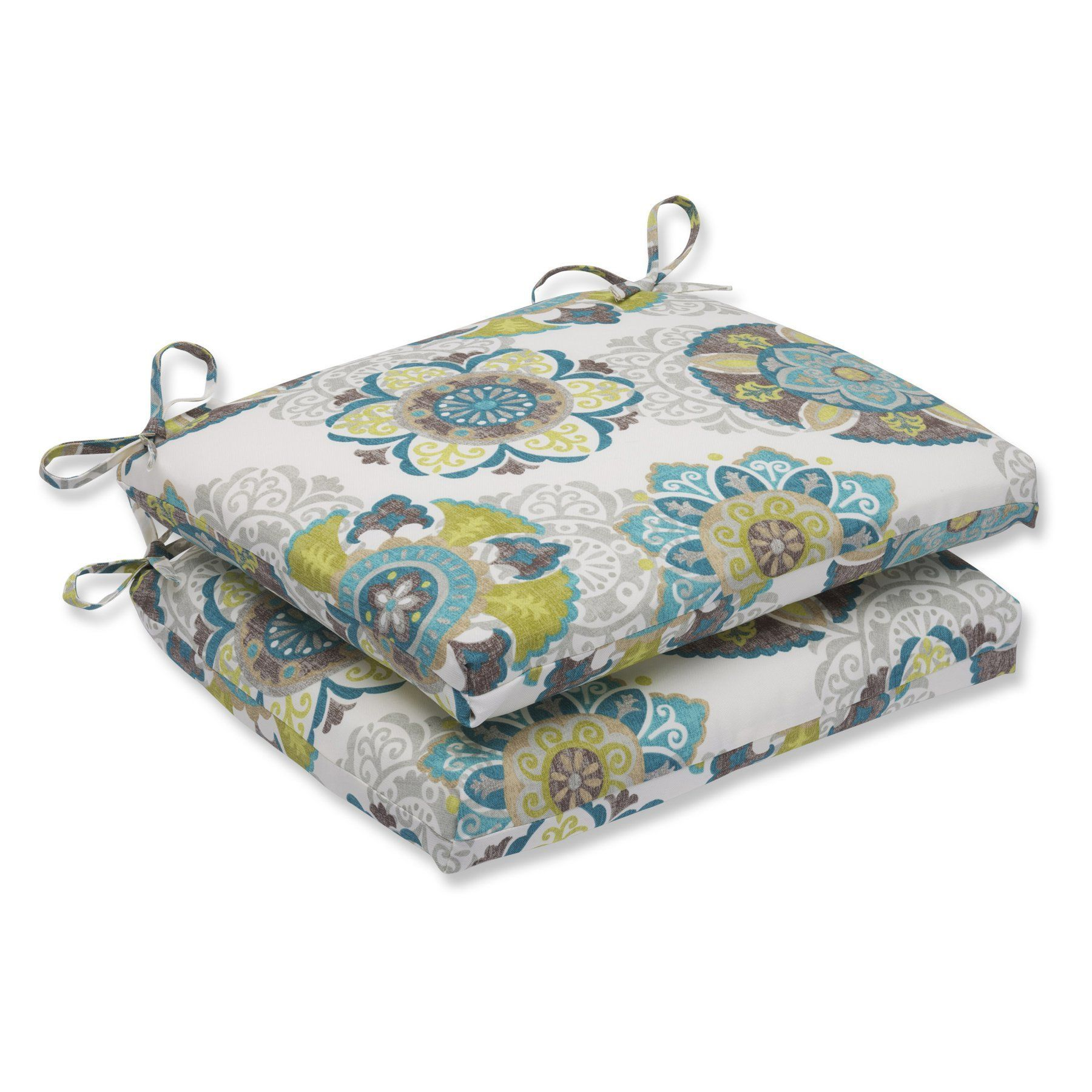 Pillow perfect allodala oasis squared corners seat cushion set of
