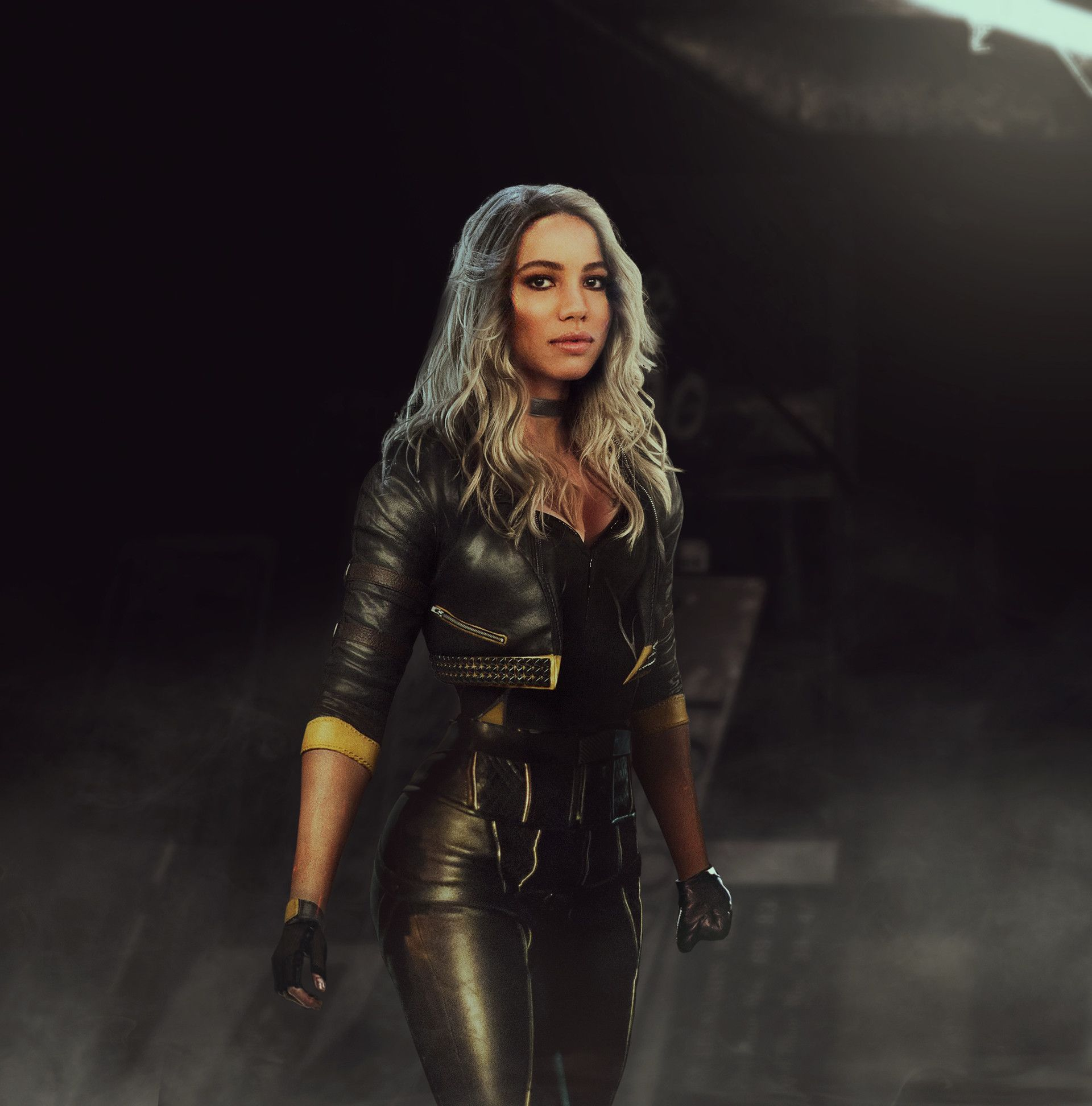 Black Canary Jurnee Smollett Bell I M So Ready For A Bop Movie Lets Go She Looks Like She S Gonna Be Such Black Canary Costume Black Canary Jurnee Smollett