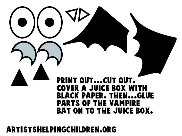 bat wing template cut out how to make a juice box vampire bat