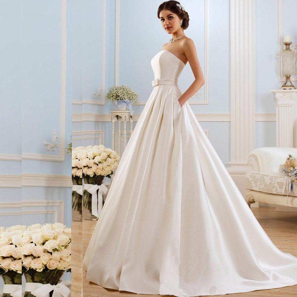 Romantic a line wedding dresses backless someday pinterest