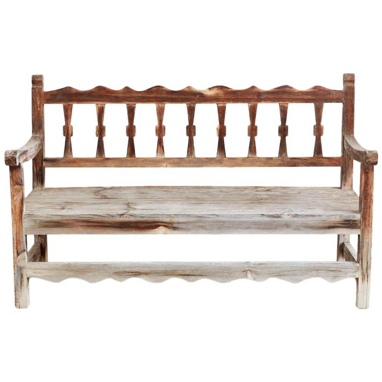 Rustic California Rancho Monterey Style Pine Bench Monterey Style Monterey Furniture Rustic Pine Furniture