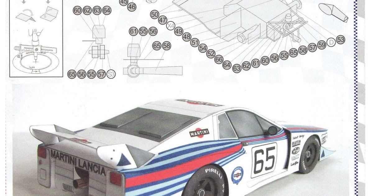 Sp  Papel Modelismo  Papercraft Lancia Beta Montecarlo