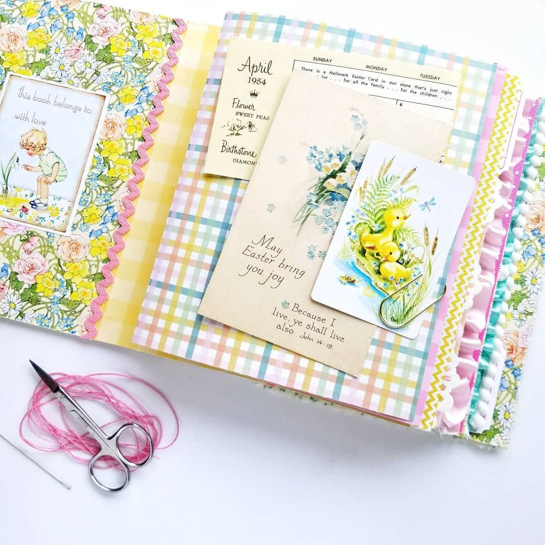 Ready To Bind The Signatures Into This Spring Junk Journal