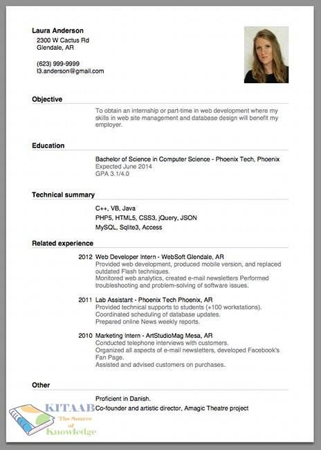 how to write a cv for a job application