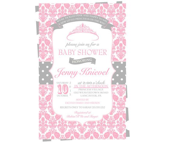 Princess Baby Shower Invitation Girls  by PaperCleverParty on Etsy