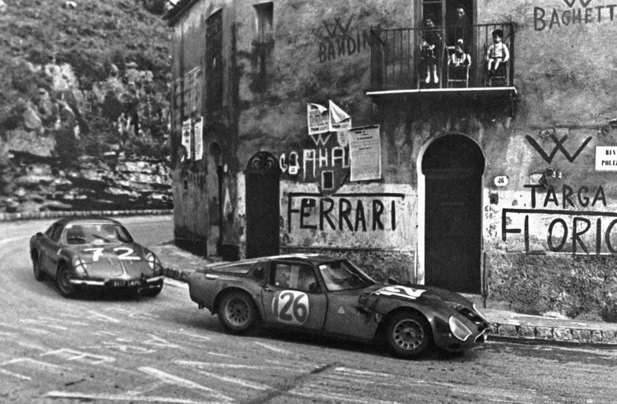 Alfa Romeo TZ2 and Alpine A108 at Targa Florio 1966 | Auto ...