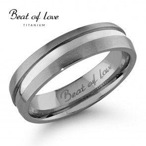 Beat Of Love, Titaanisormus, TI-905-5mm