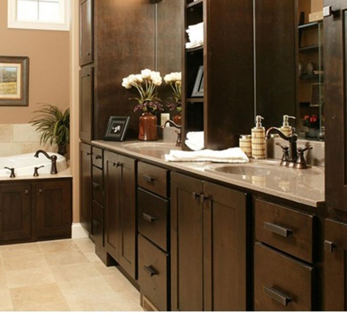Shaker Square Bathroom Cabinet Coffee Brown Custom Cabinets Rta Kitchen Cabinets Ready To