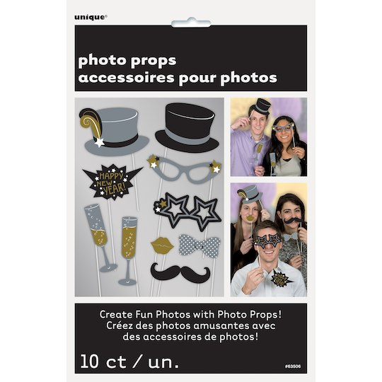 New Years Eve Photo Booth Props, 10Ct By Unique | Michaels ...