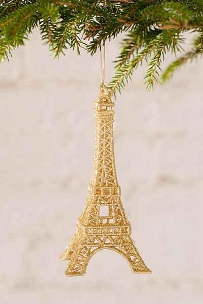 Eiffel Tower Ornament - Urban Outfitters Joyeux Noël Pinterest
