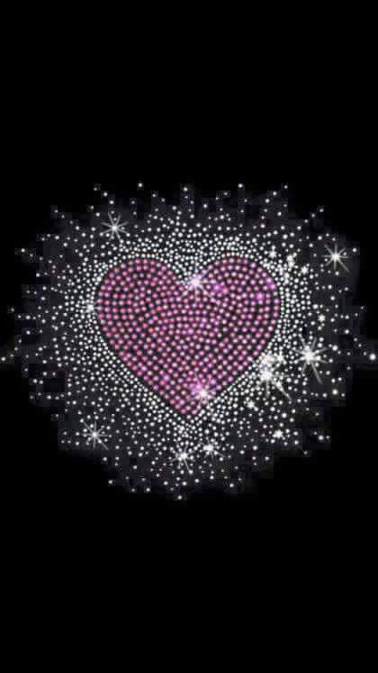 Black And Pink And Silver Sparkly Bow Hearts Heart Wallpaper
