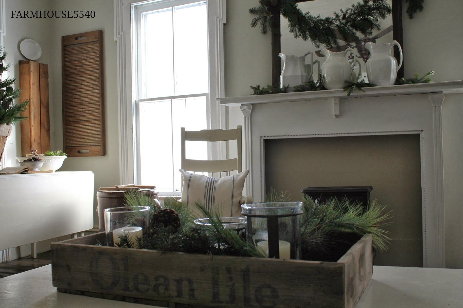 coffee table christmas farmhouse Google Search Cottage