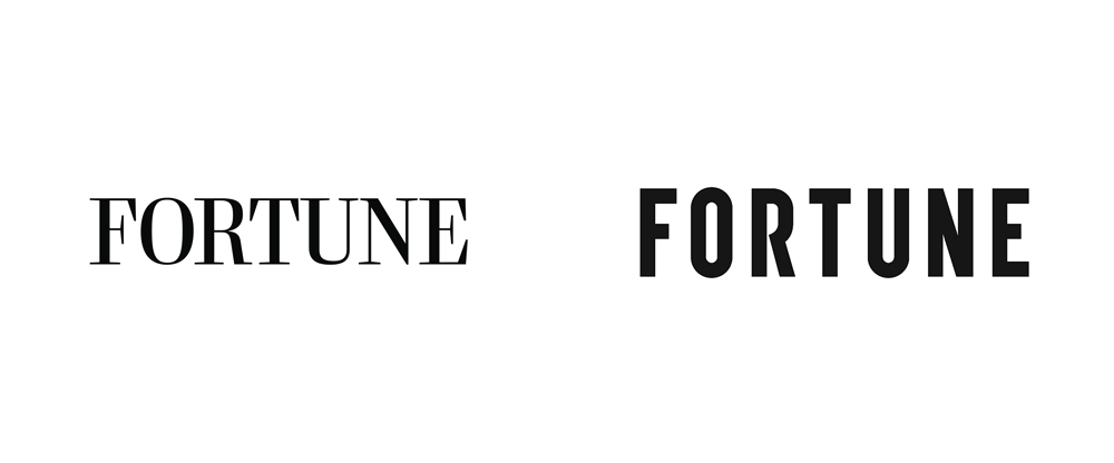 New Logo And Cover For Fortune Done In House Http Www Underconsideration Com Brandnew Archives New Logo And Cover For Fortune D Logos Fortune Brand Awareness