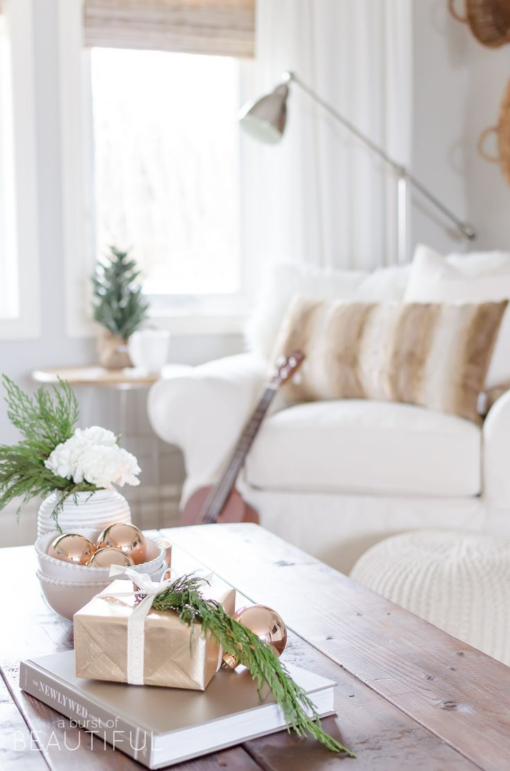 Cozy Christmas Living Room | Pinterest | Copper accessories ...