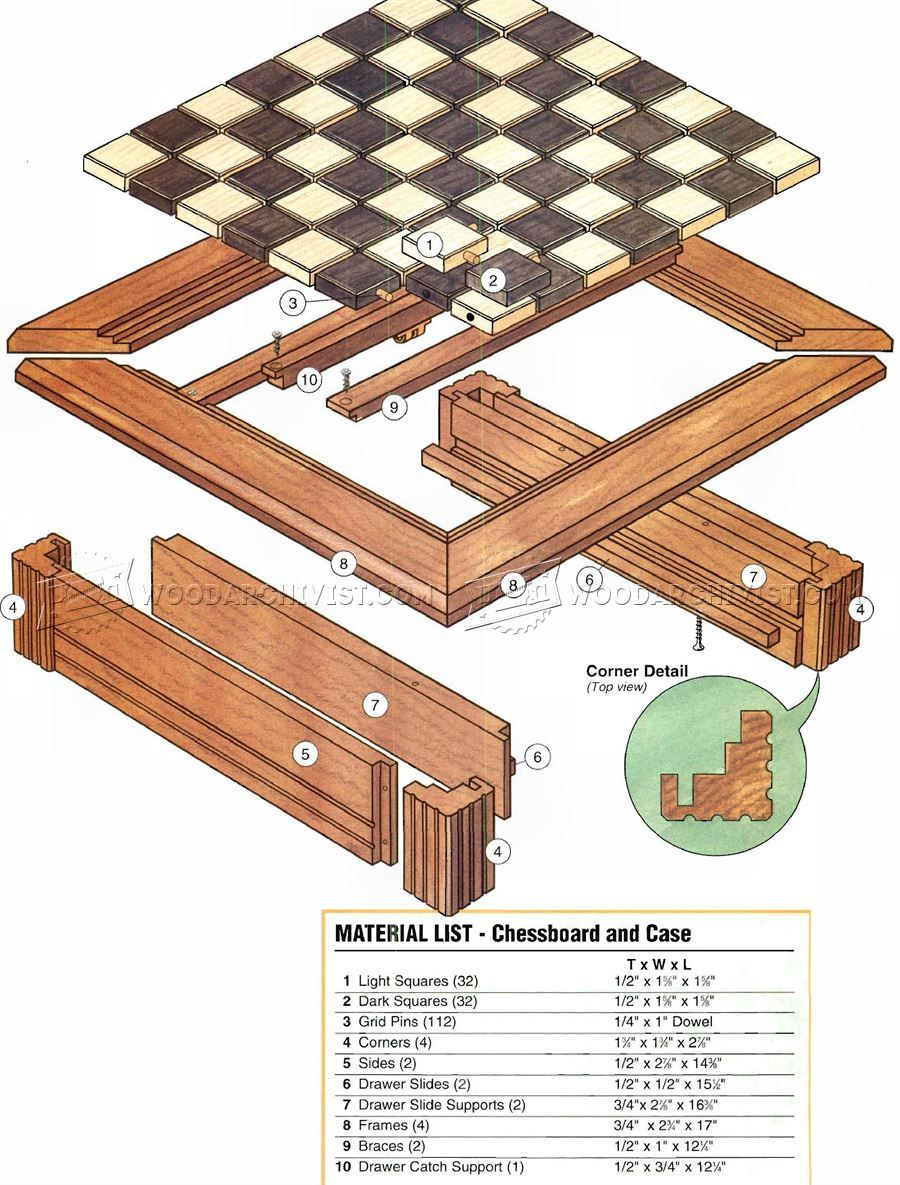 chess board plans - woodworking plans | woodworking