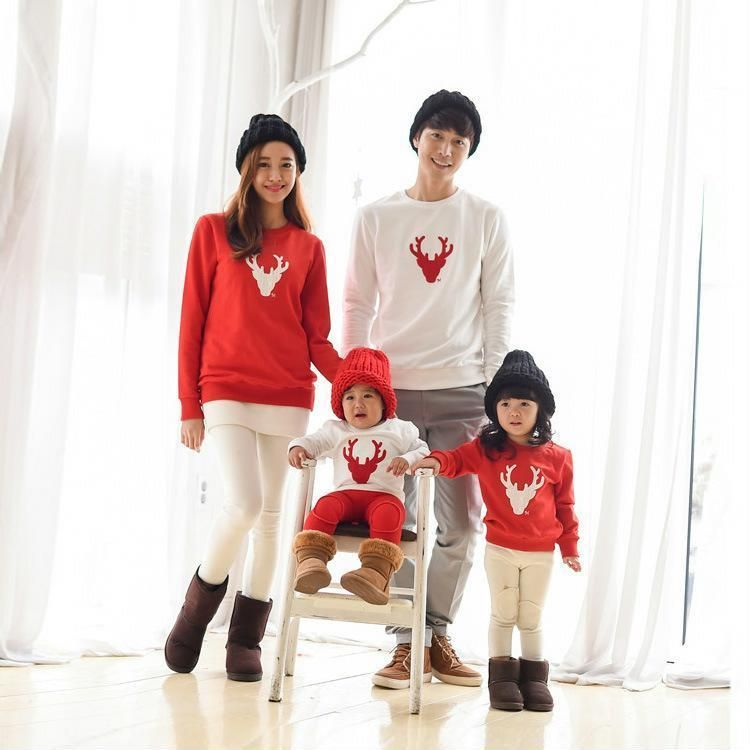 4cee13d100 Christmas Family Look Deer Women Kids Matching Adult Clothing Outfits  Pajamas